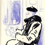 croquis de métro, barberon, hervé guibert